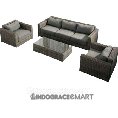 Indograce Sofa Set (Green)