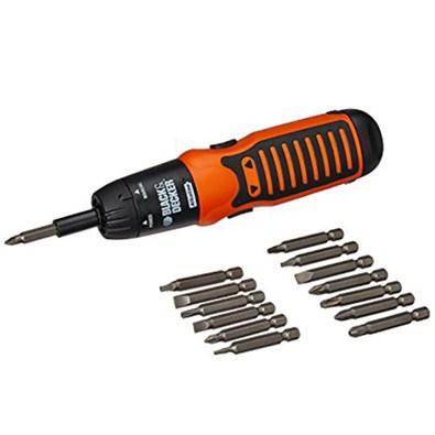 BLACK+DECKER -Cordless Alkaline Battery Screwdriver (A7073)
