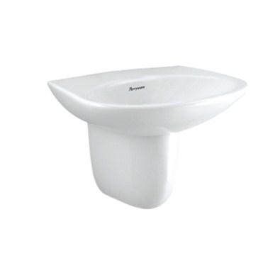 Parryware Basin With Pedestal Flair (C0460 Basin,C0316 Pedestal Short,C8302 Spring )