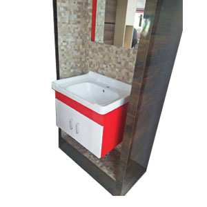 Wall Mounted 2g Full Set Wash Basin with Cabinet