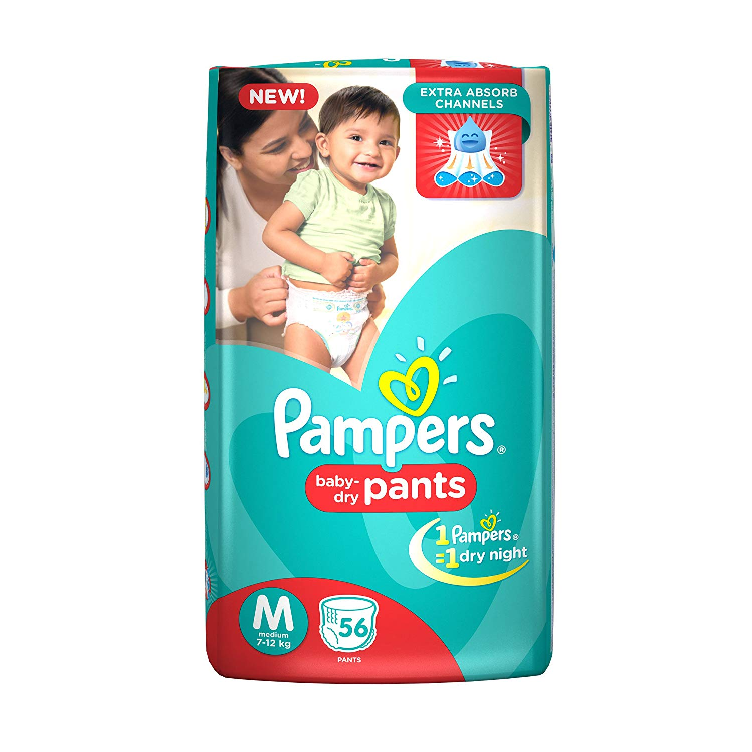 Pampers Medium Size Diapers (56 Count)