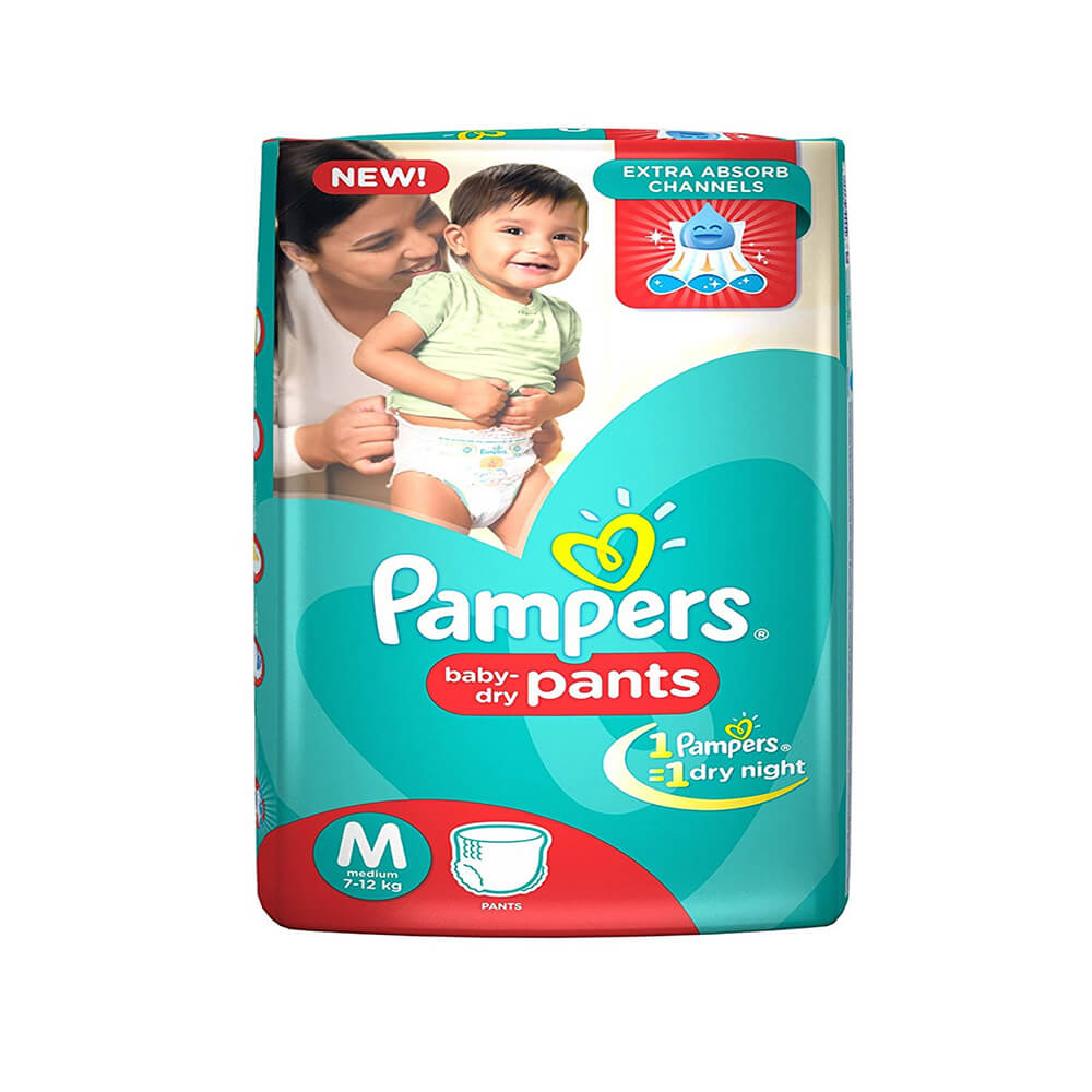 Pampers Medium Size Diapers (4 Count)