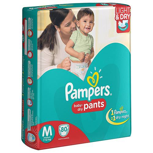 Pampers Medium Size Diapers (80 Count)