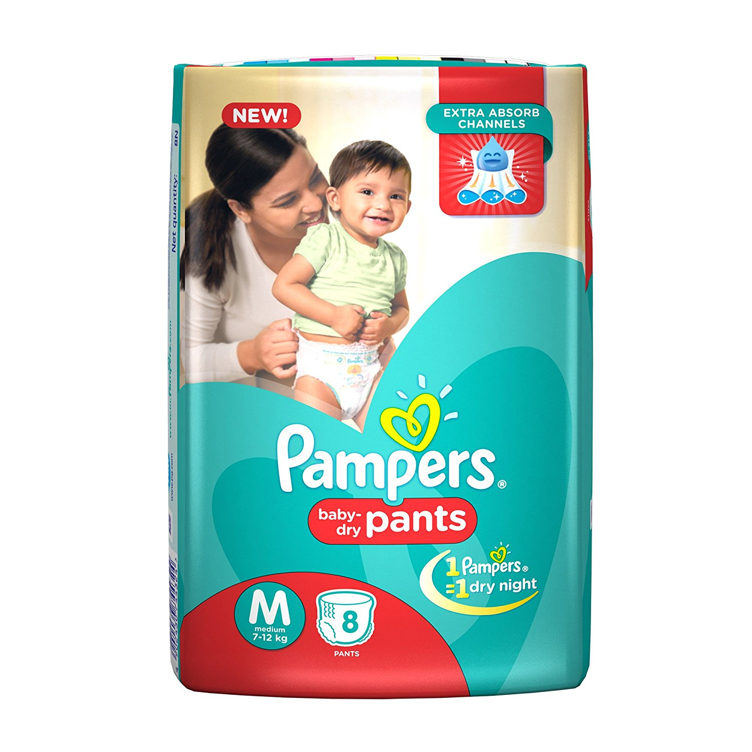 Pampers Medium Size Diapers (8 Count)