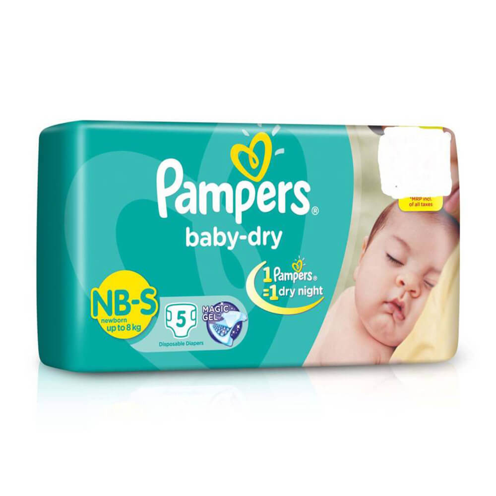 Pampers Small Size Diapers(5 Count)