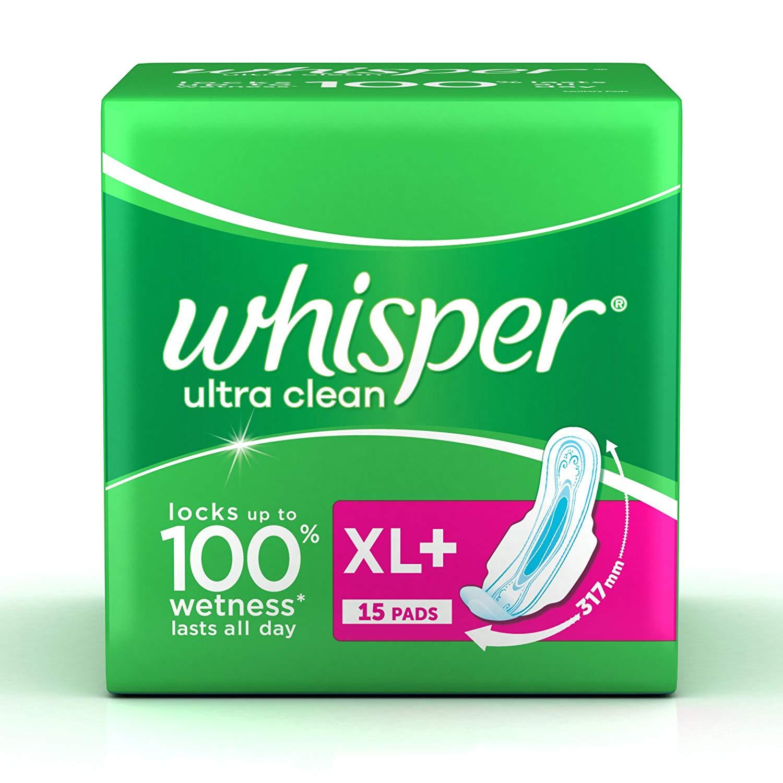 Whisper Ultra Plus Sanitary Pads XL Plus (15 Count)