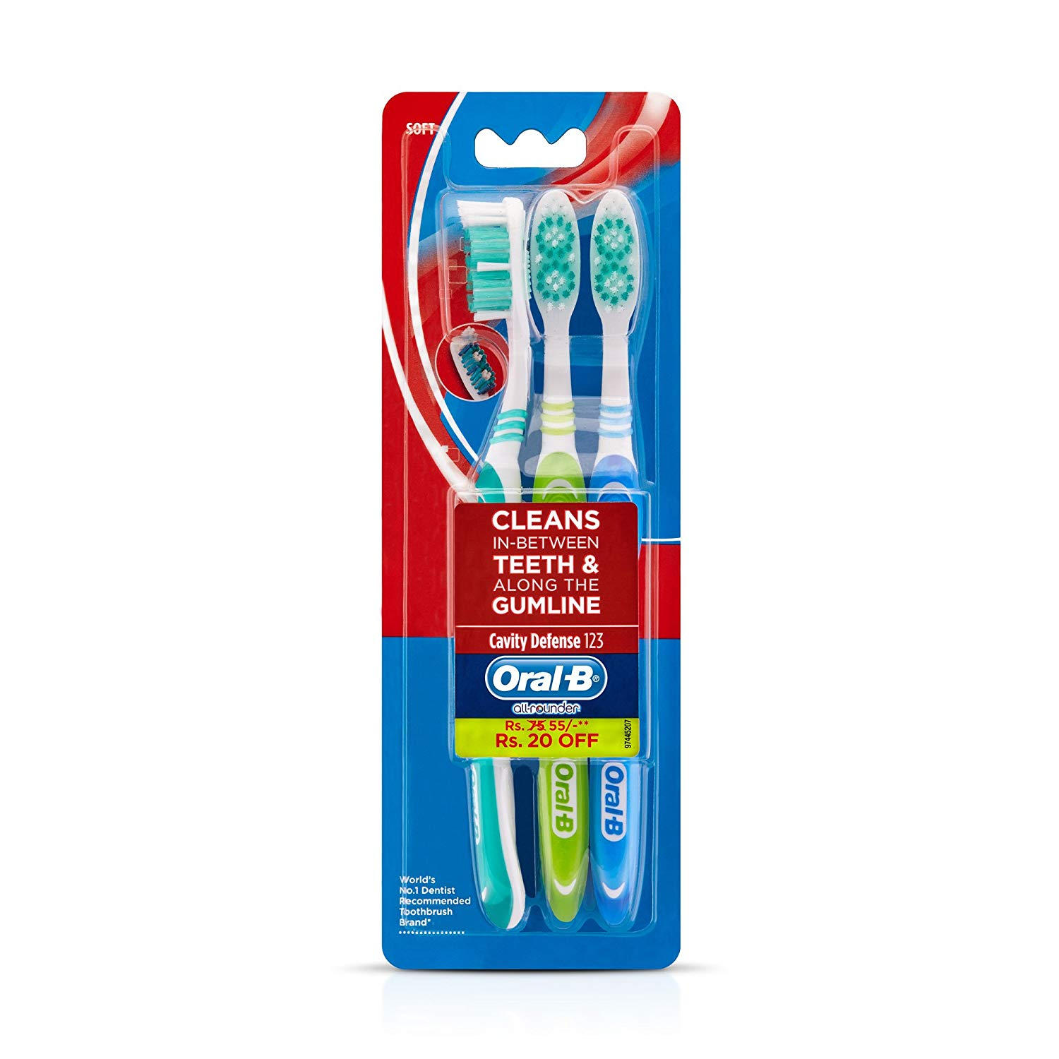 Oral B Cavity Defence Soft 3s Pack N Toothbrush