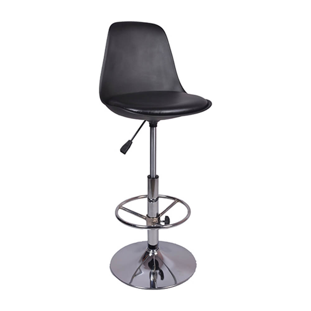 VJ Interior Ergonomico Bar Stool Black 15 x 15 x 11 Inch VJ-0016