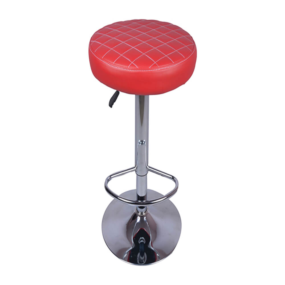 VJ Interior Consciente Bar Stool Red 15 x 15 x 24 Inch VJ-0028