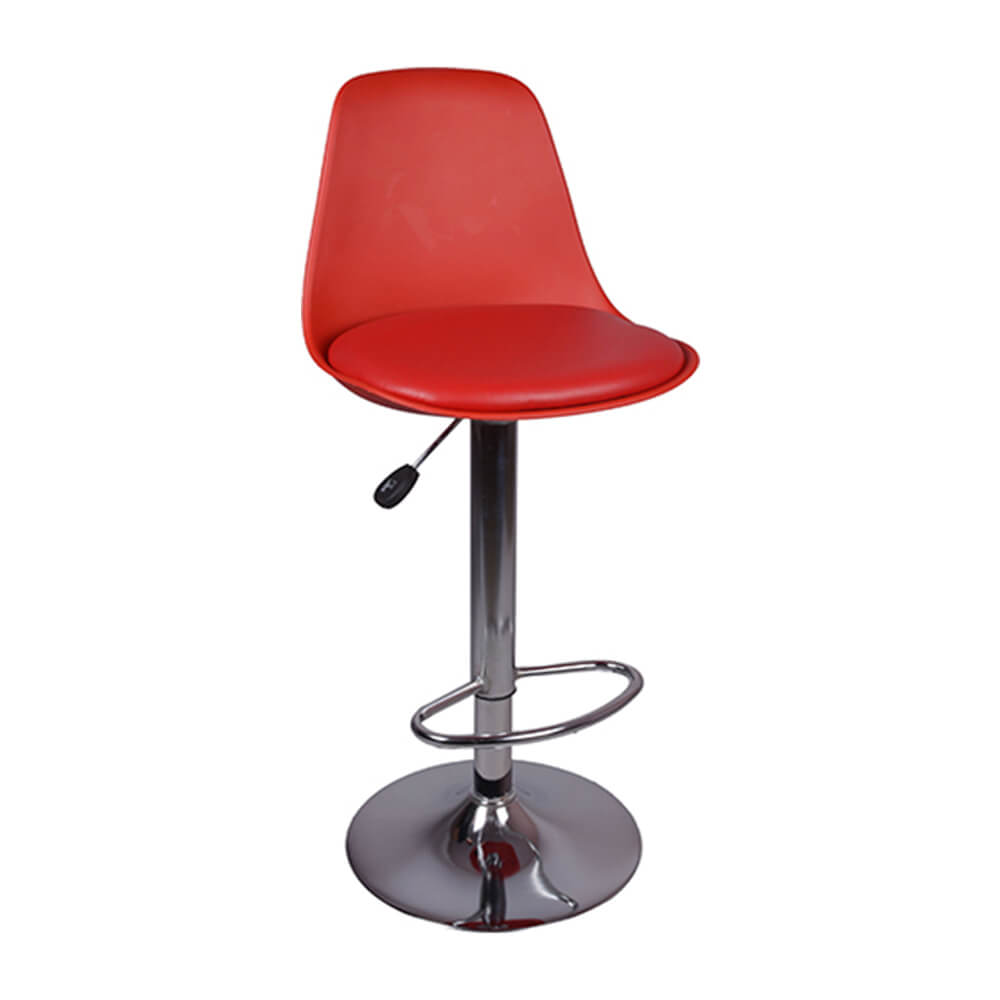 VJ Interior Ergonomico Bar Stool Red 15 x 15 x 24 to 33 Inch VJ-0042