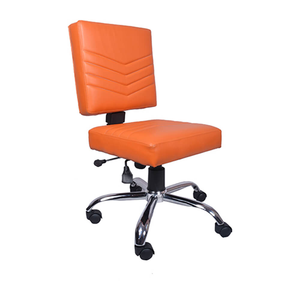 VJ Interior Naranja Study And Task Chair Orange 19 x 20 x 21 Inch VJ-0172