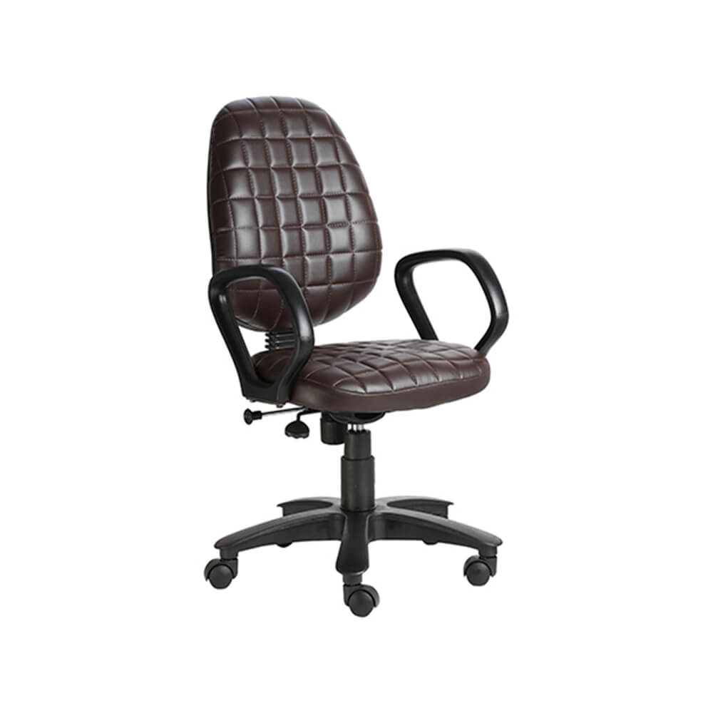 VJ Interior Moreno Brown Color Task Chair VJ-410