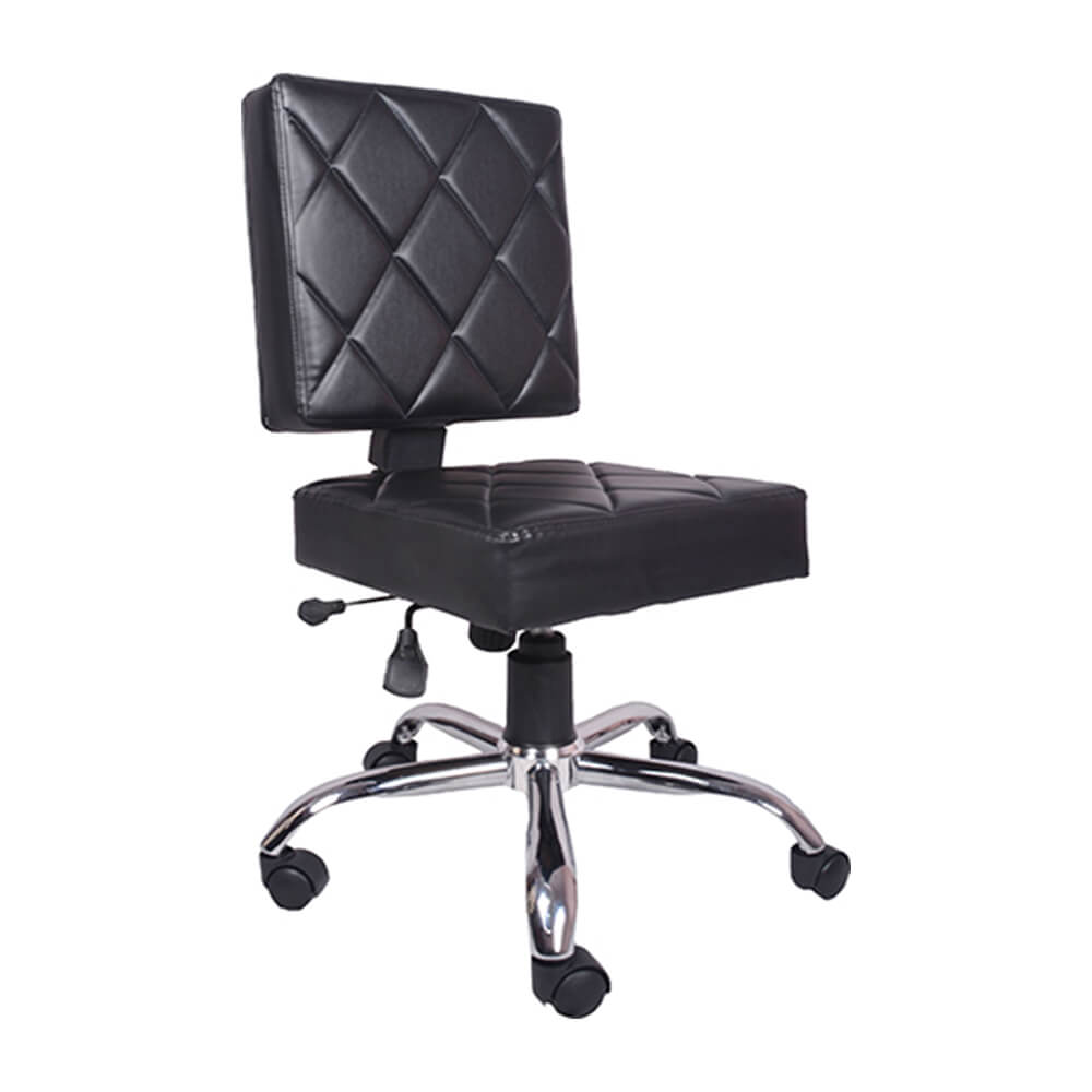 VJ Interior Ladrillos Study And Task Chair Black 19 x 20 x 21 Inch VJ-002