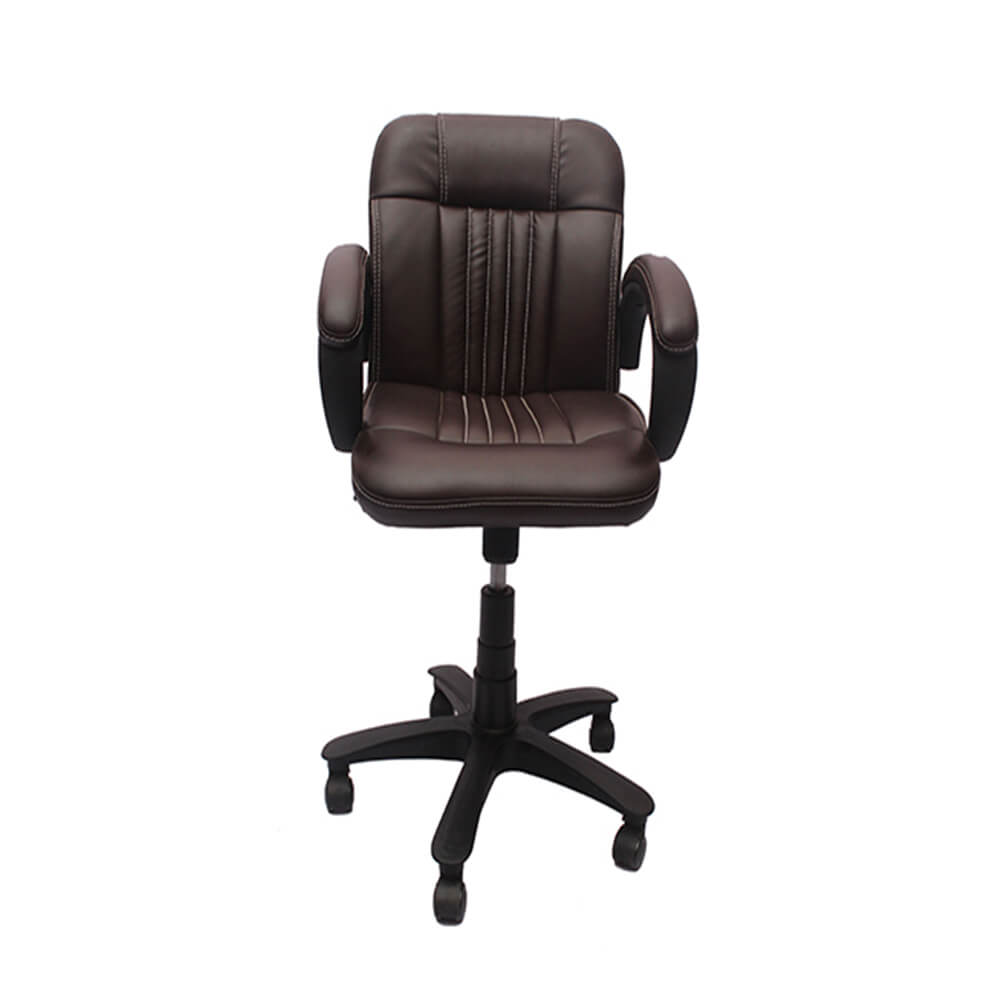 VJ Interior Visitor Chair Brown 19 x 19 x 39 Inch VJ-21-VISITOR-LB