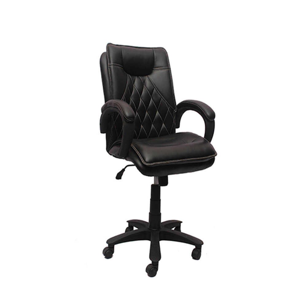 VJ Interior Visitor Chair Black 19 x 19 x 39 Inch VJ-101-VISITOR-MB