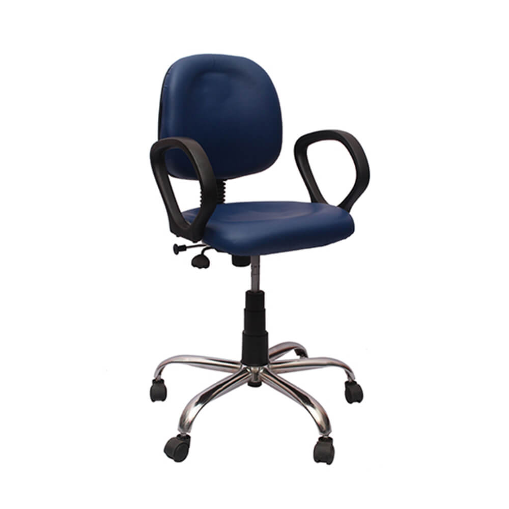 VJ Interior Visitor Chair Blue 19 x 19 x 39 Inch VJ-117-VISITOR-RBY