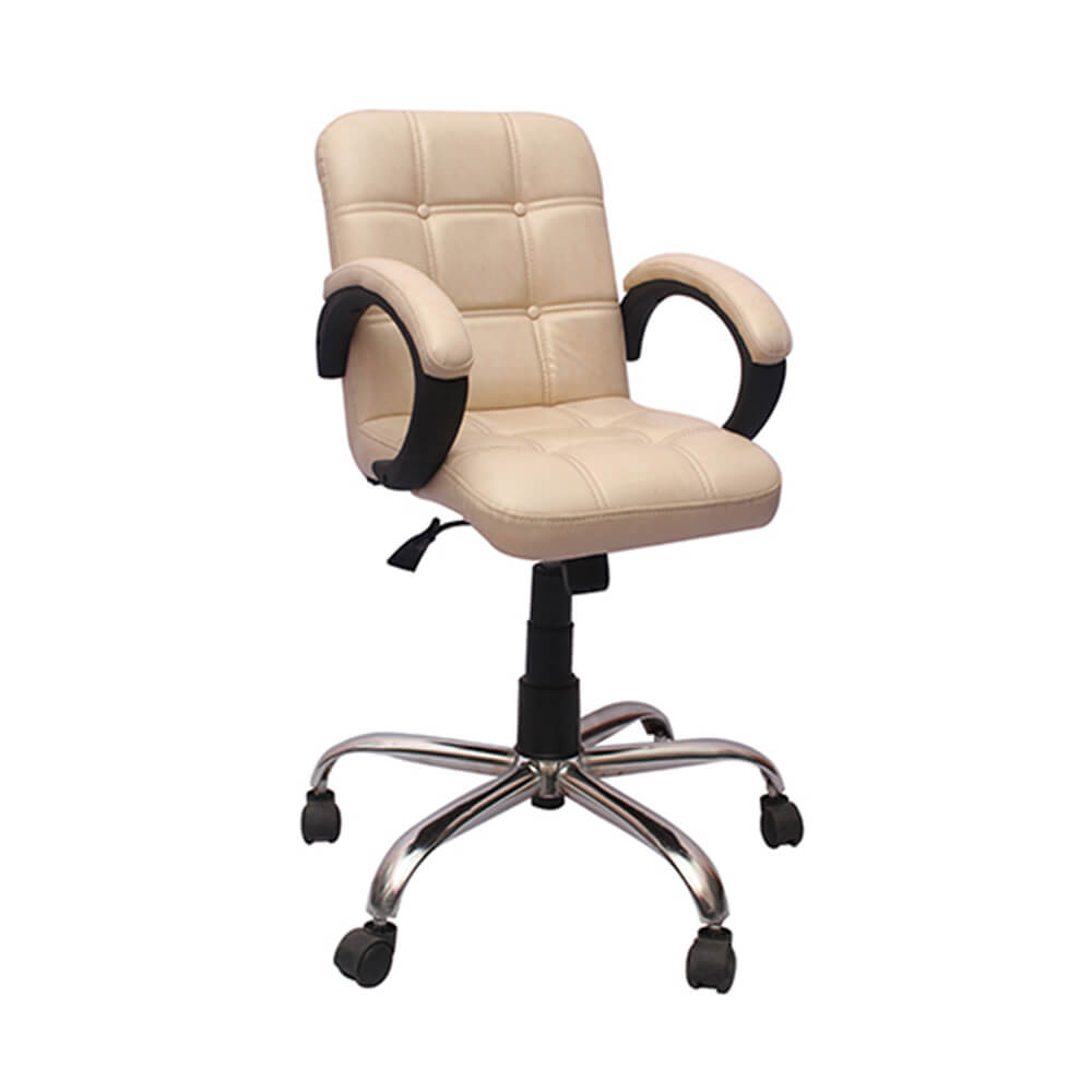 VJ Interior Visitor Chair Ivory 19 x 19 x 39 Inch VJ-125-VISITOR-LB