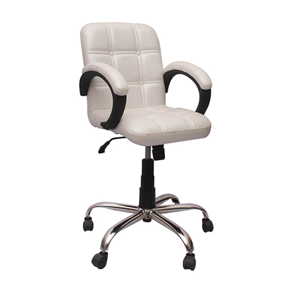 VJ Interior Visitor Chair White 19 x 19 x 39 Inch VJ-133-VISITOR-LB
