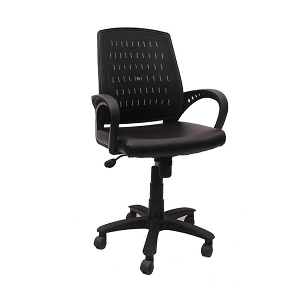 VJ Interior Visitor Chair Black 18 x 17 x 37 Inch VJ-161-VISITOR-LB