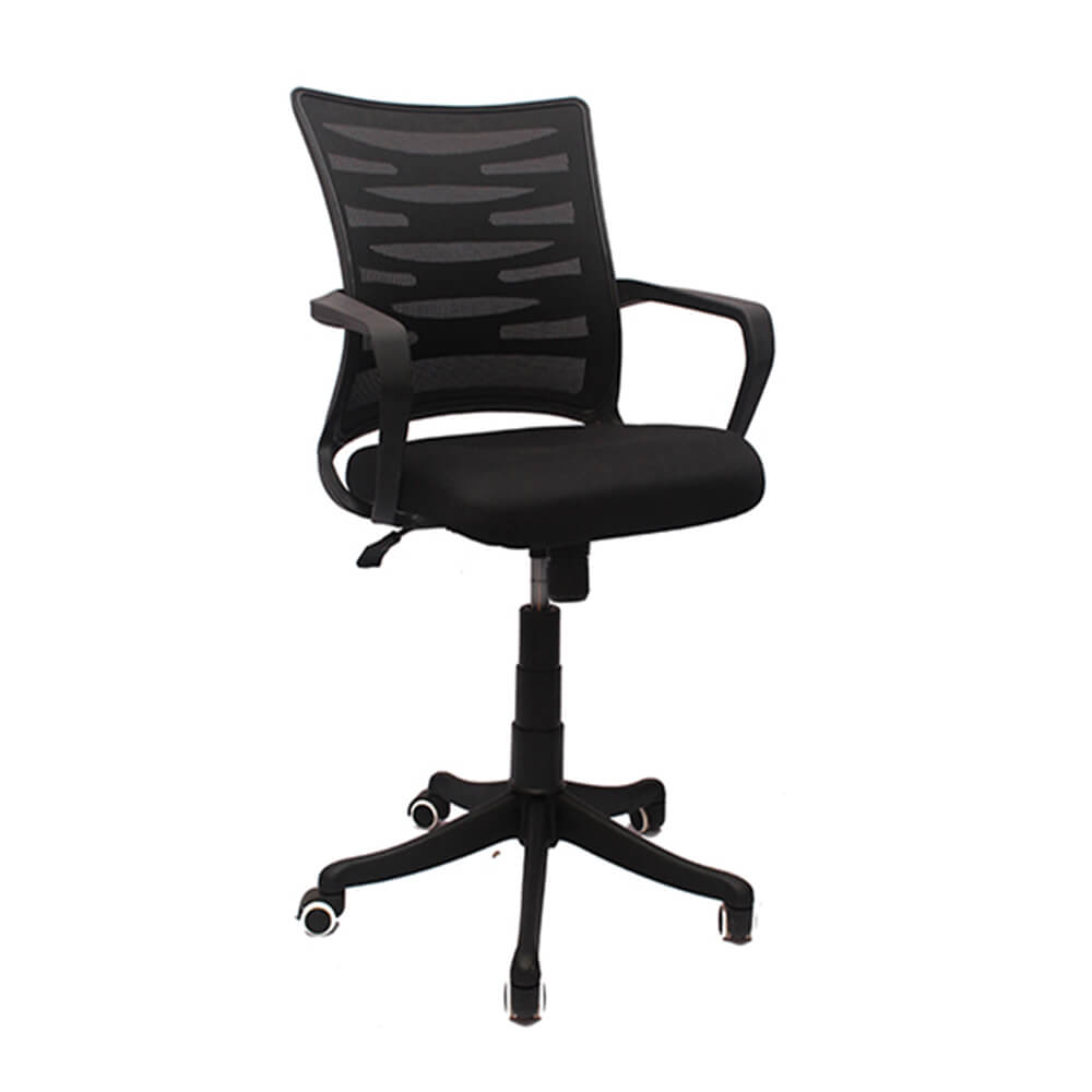 VJ Interior Visitor Chair Black 18 x 17 x 37 Inch VJ-189-VISITOR-LB