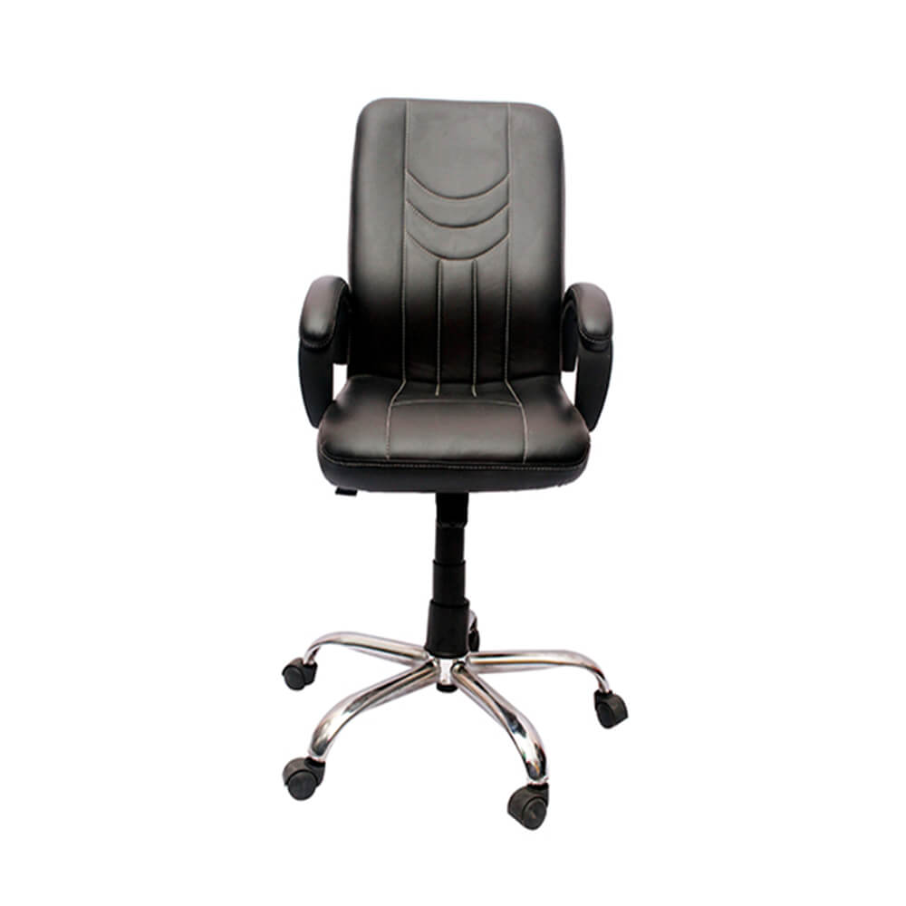 VJ Interior Visitor Chair Black 19 x 22 x 41 Inch VJ-33-VISITOR-MB