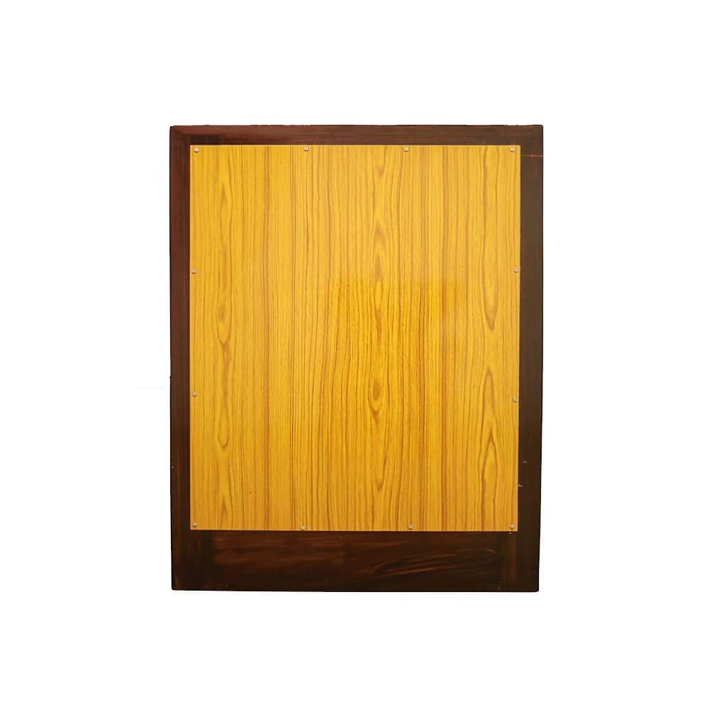 Square Wall Mirror in Solid Wood Frame 2