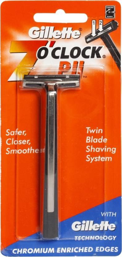 Gillette 7 O'Clock Shaving Razor - PII 1 Razor Pack