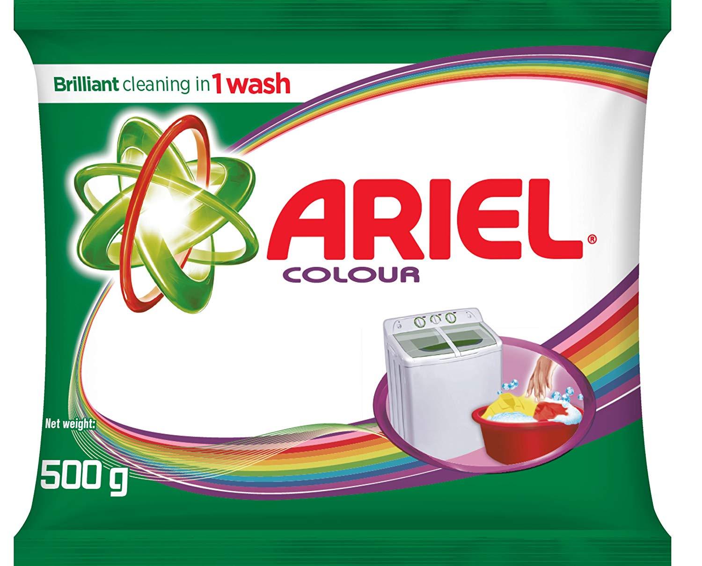 Ariel Colour Washing Detergent Powder 500g