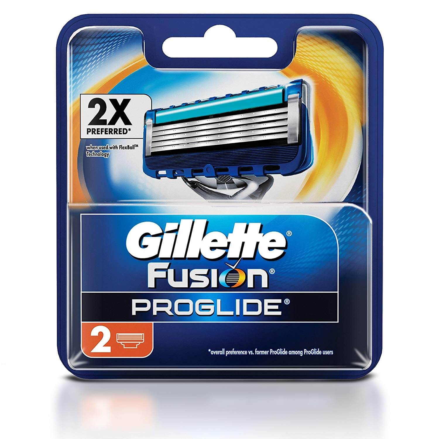 Gillette Fusion Proglide Flex Ball Manual Shaving Razor Blades - 2 Cartridges