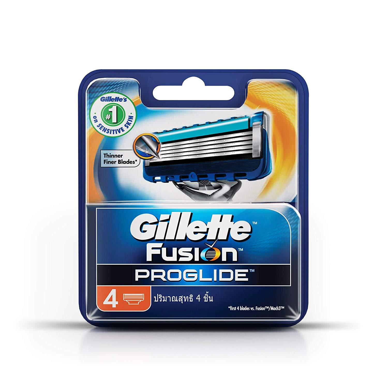 Gillette Fusion Proglide Flex Ball Manual Shaving Razor Blades - 4 Cartridges