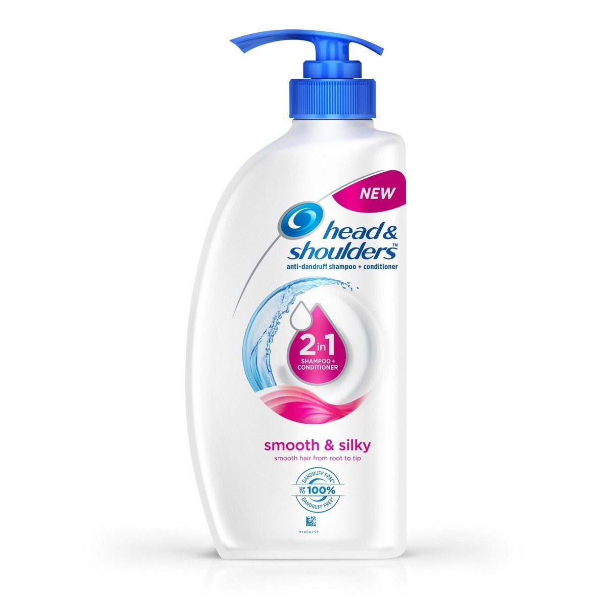 Head & Shoulders Smooth and Silky 2-in-1 Shampoo and Conditioner, 750ml