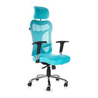 Kruz High Back Office Chair- Blue