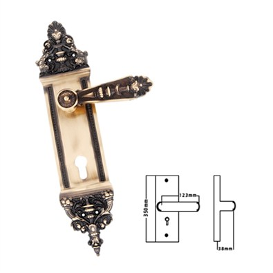 Mastiff Brass Mortise Handles (MB 01 KY)