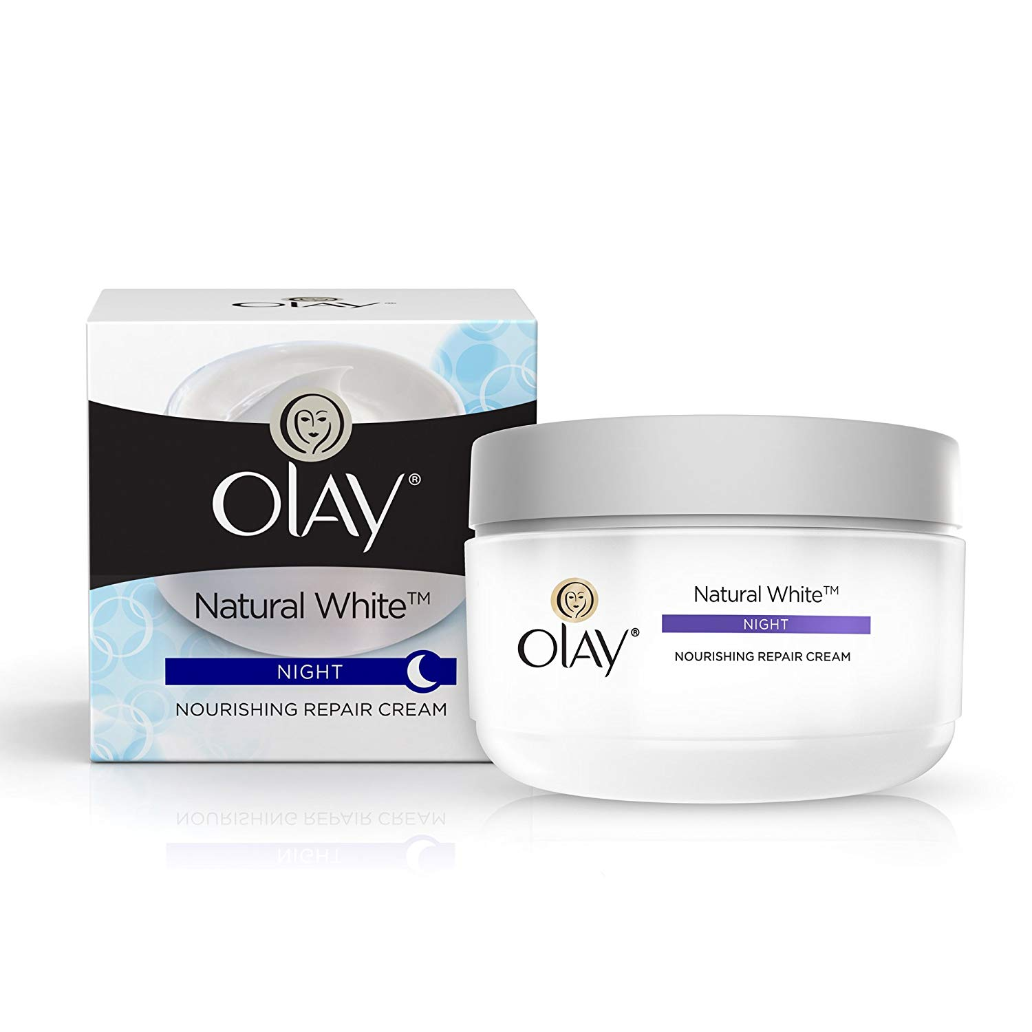 Olay Natural White All in One Fairness Night Skin Cream, 50g