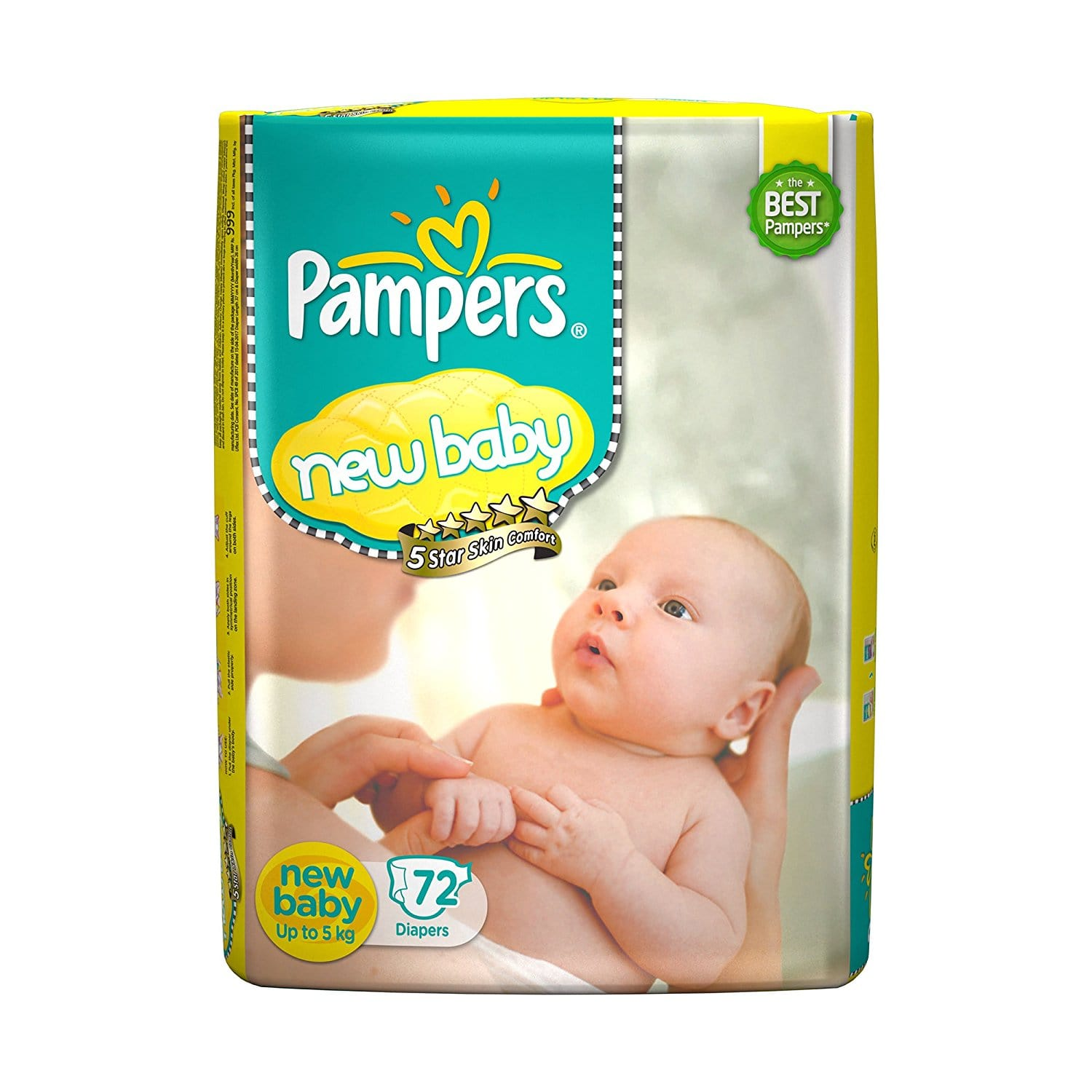 Pampers New born Baby Diaper (72 Count)
