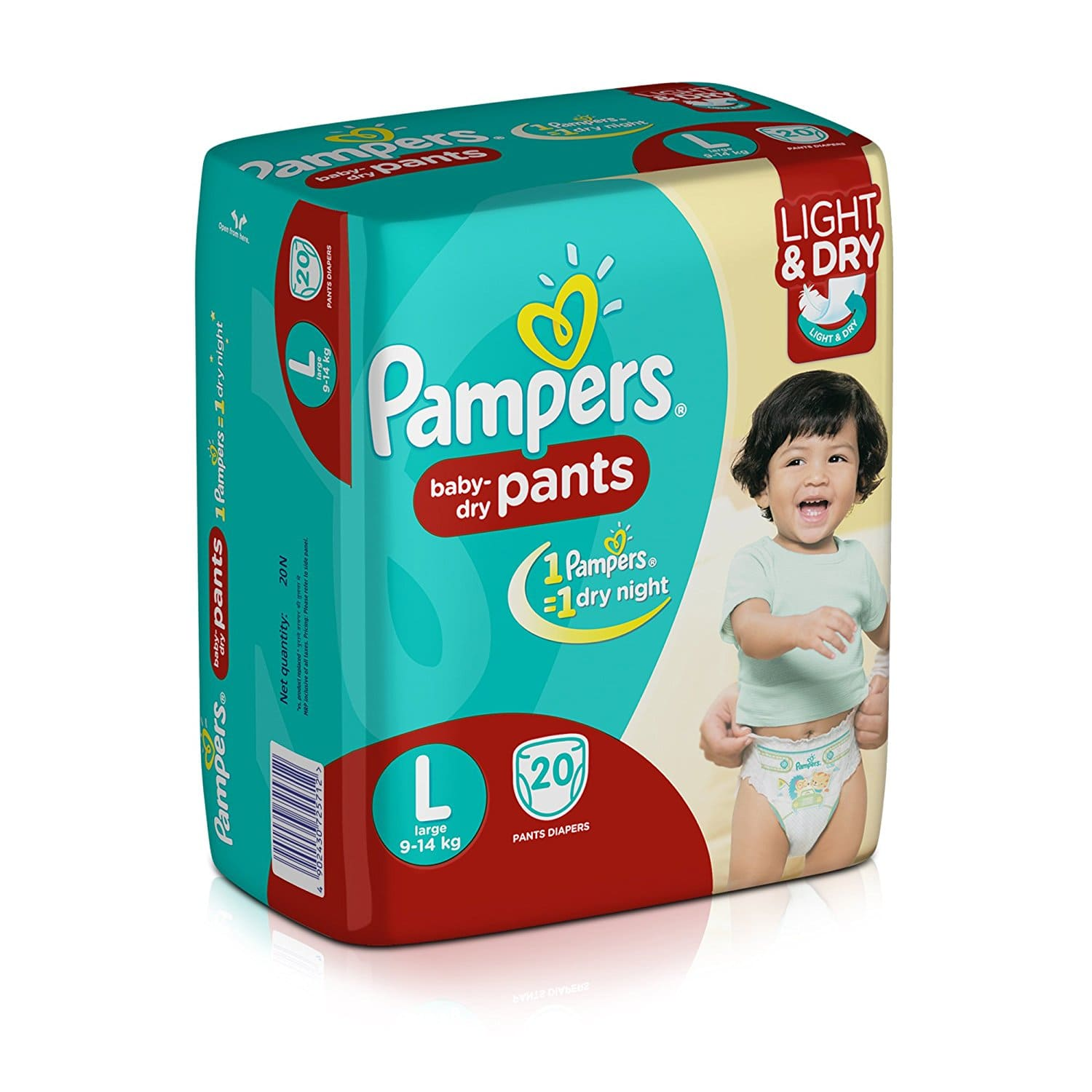 Pampers Large Size Diapers (20 Count)