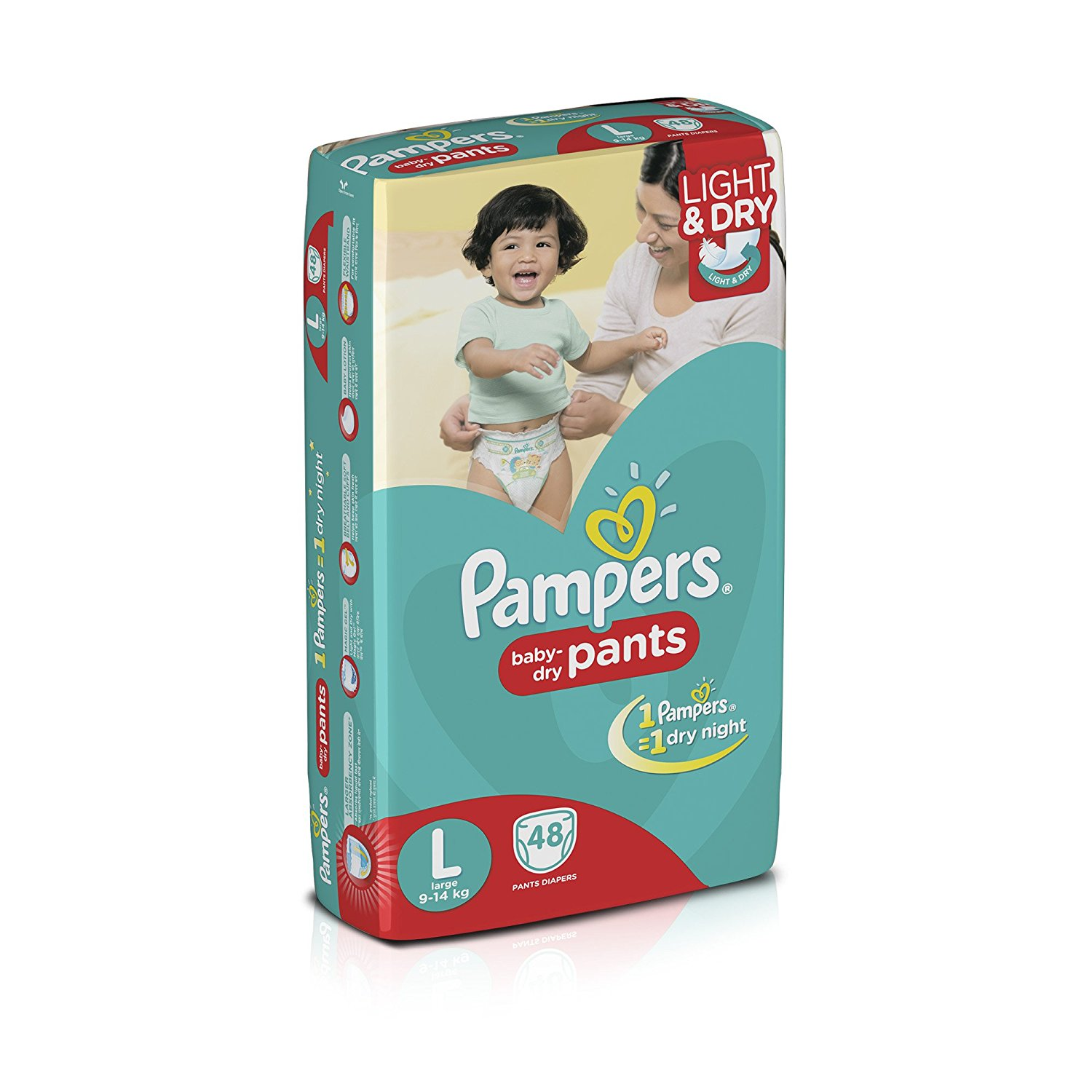 Pampers Large Size Diapers (48 Count)