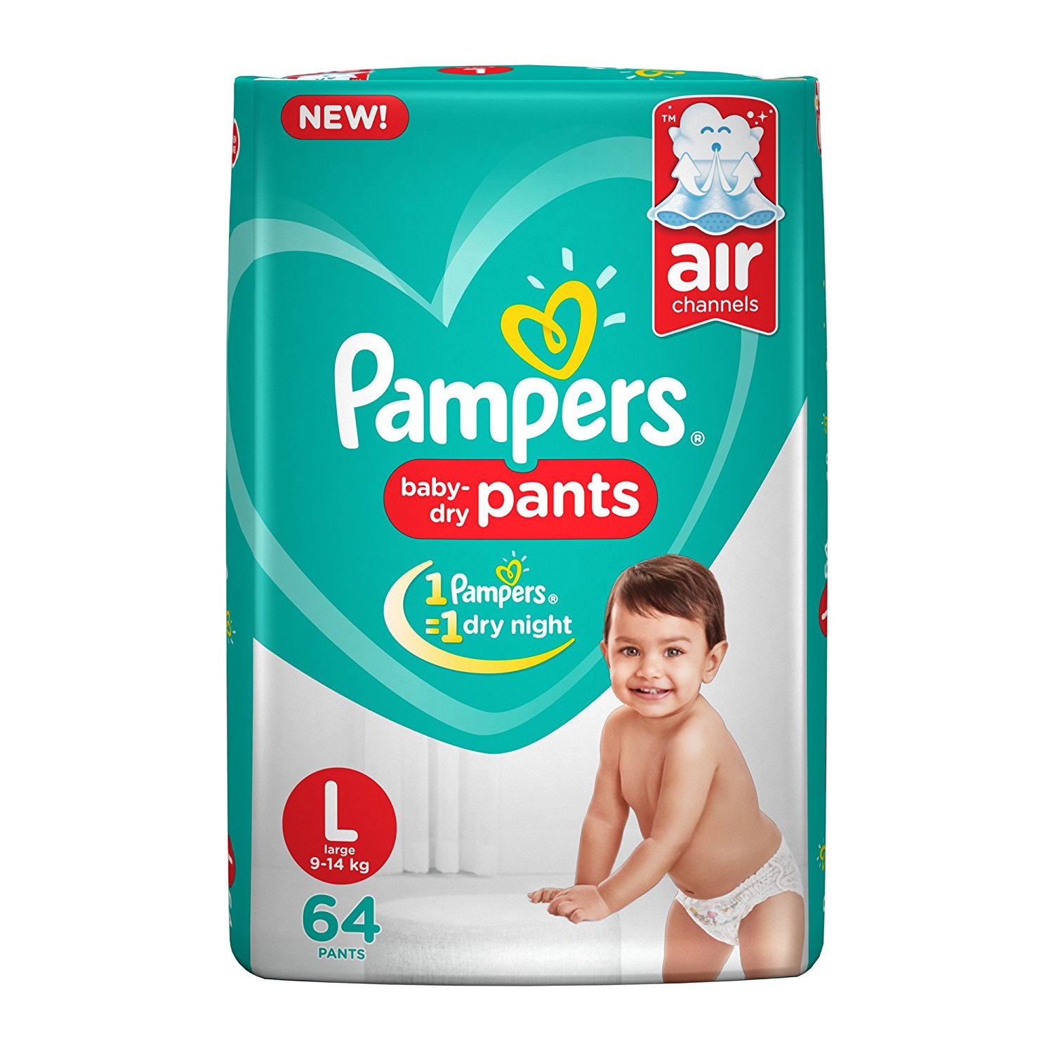 Pampers New Large Size Diapers Pants (64 Count)