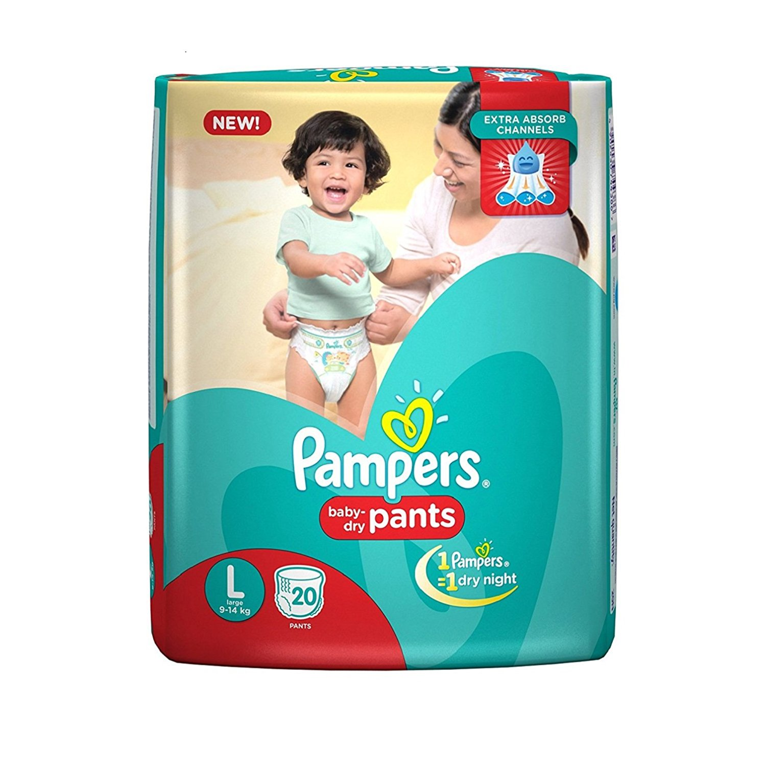 Pampers Large Size Diapers (8 Count)