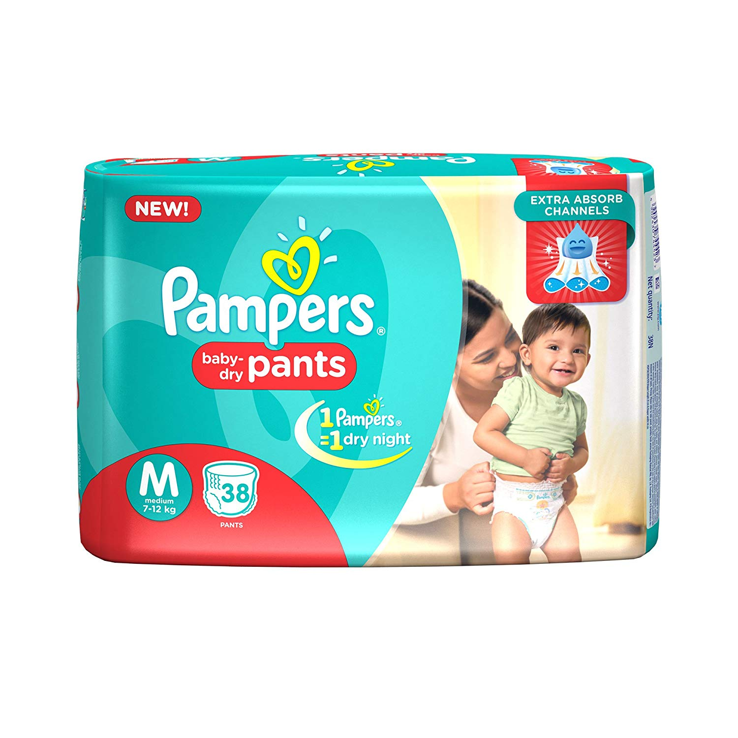 Pampers Medium Size Diapers (38 Count)