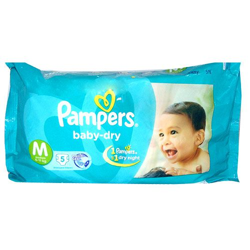 Pampers Medium Size Diapers (5 Count)
