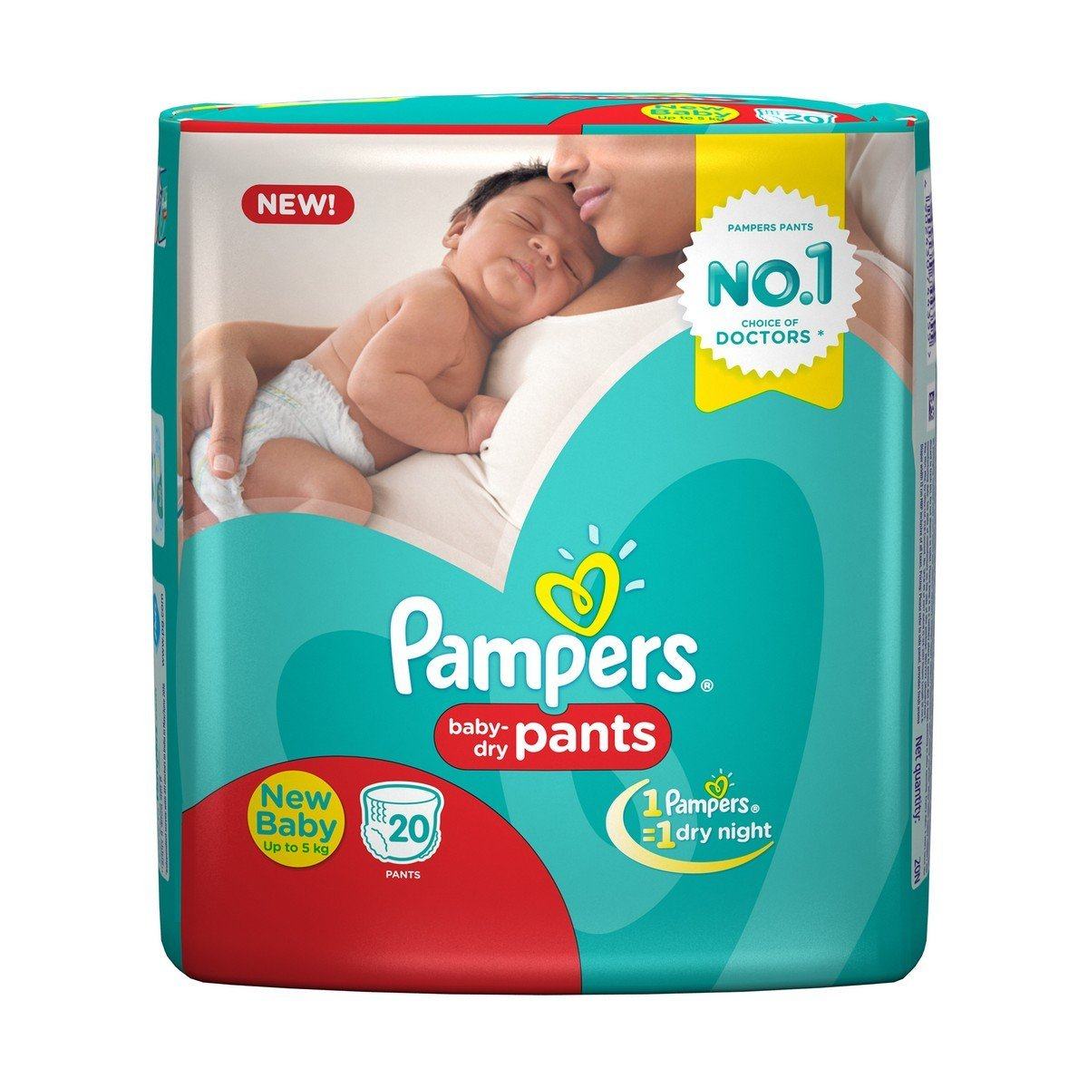 Pampers New born Baby Diaper 20 Count