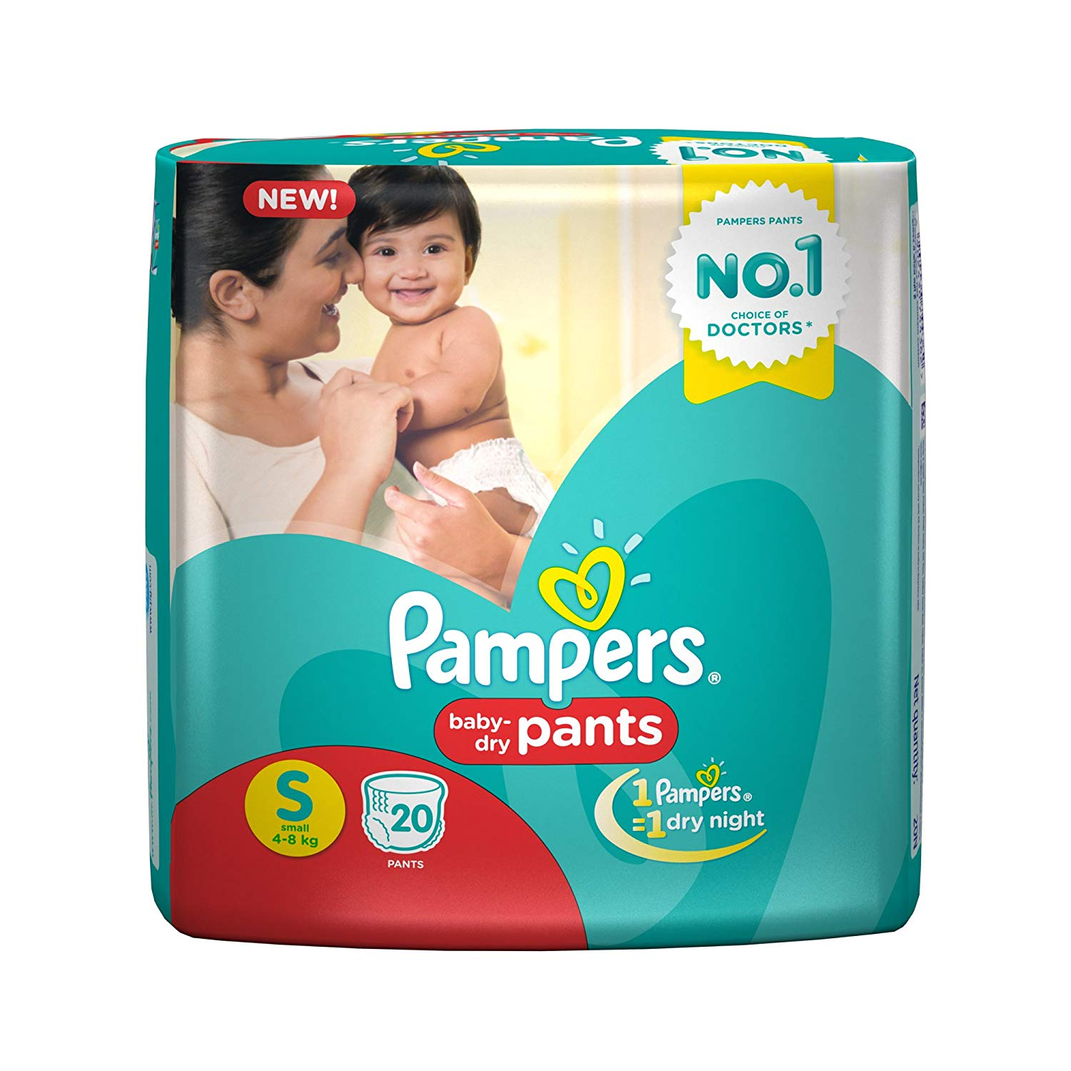 Pampers Small Size Diapers (20Count)