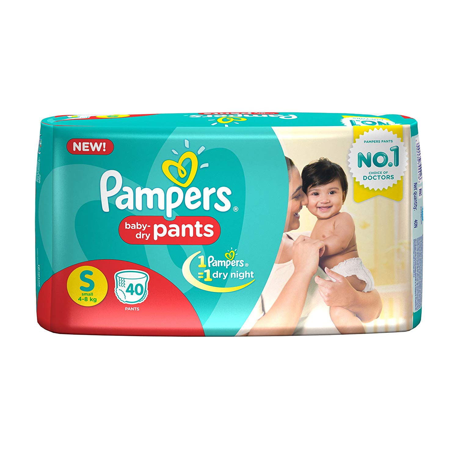 Pampers Small Size Diapers (40Count)