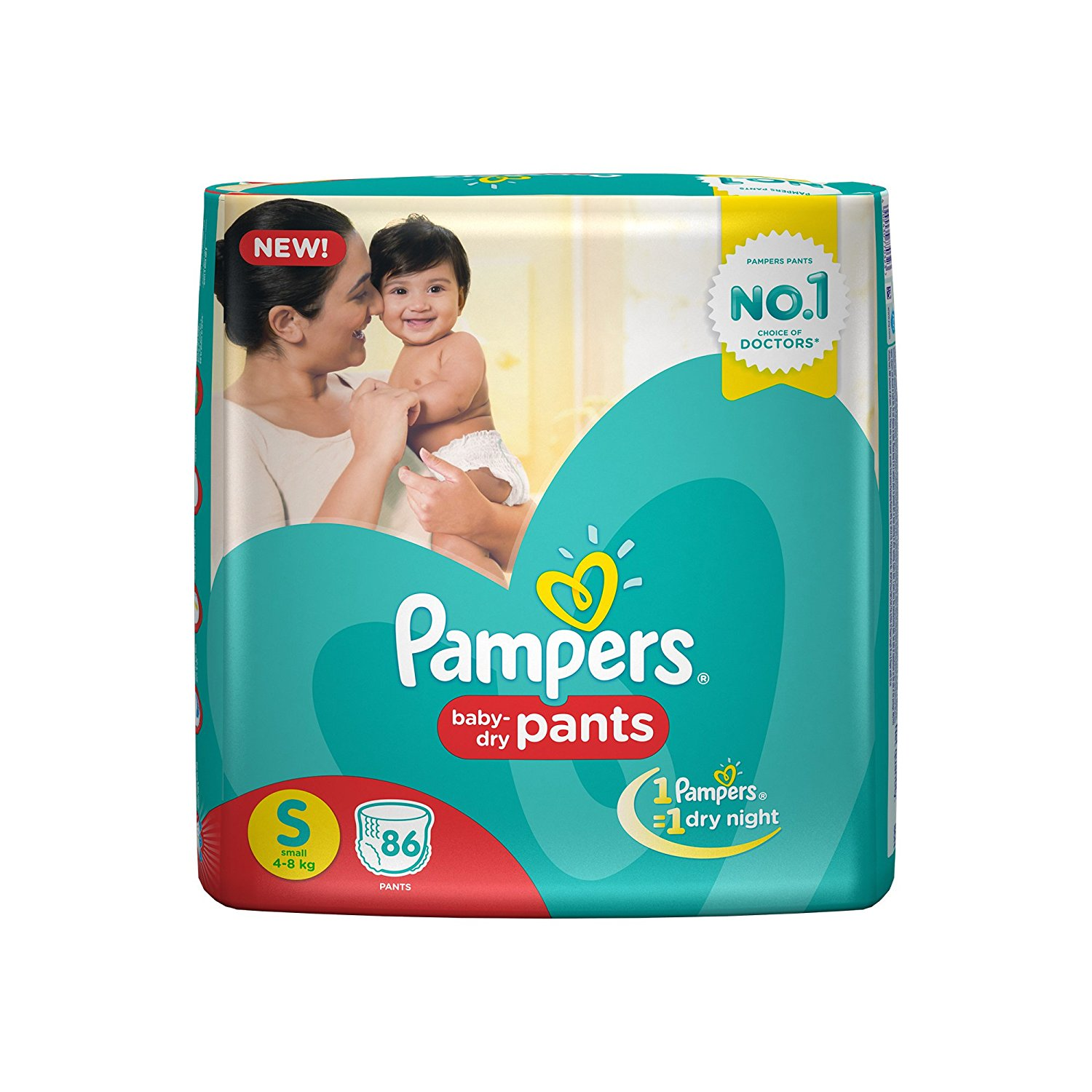 Pampers Small Size Diapers (86Count)