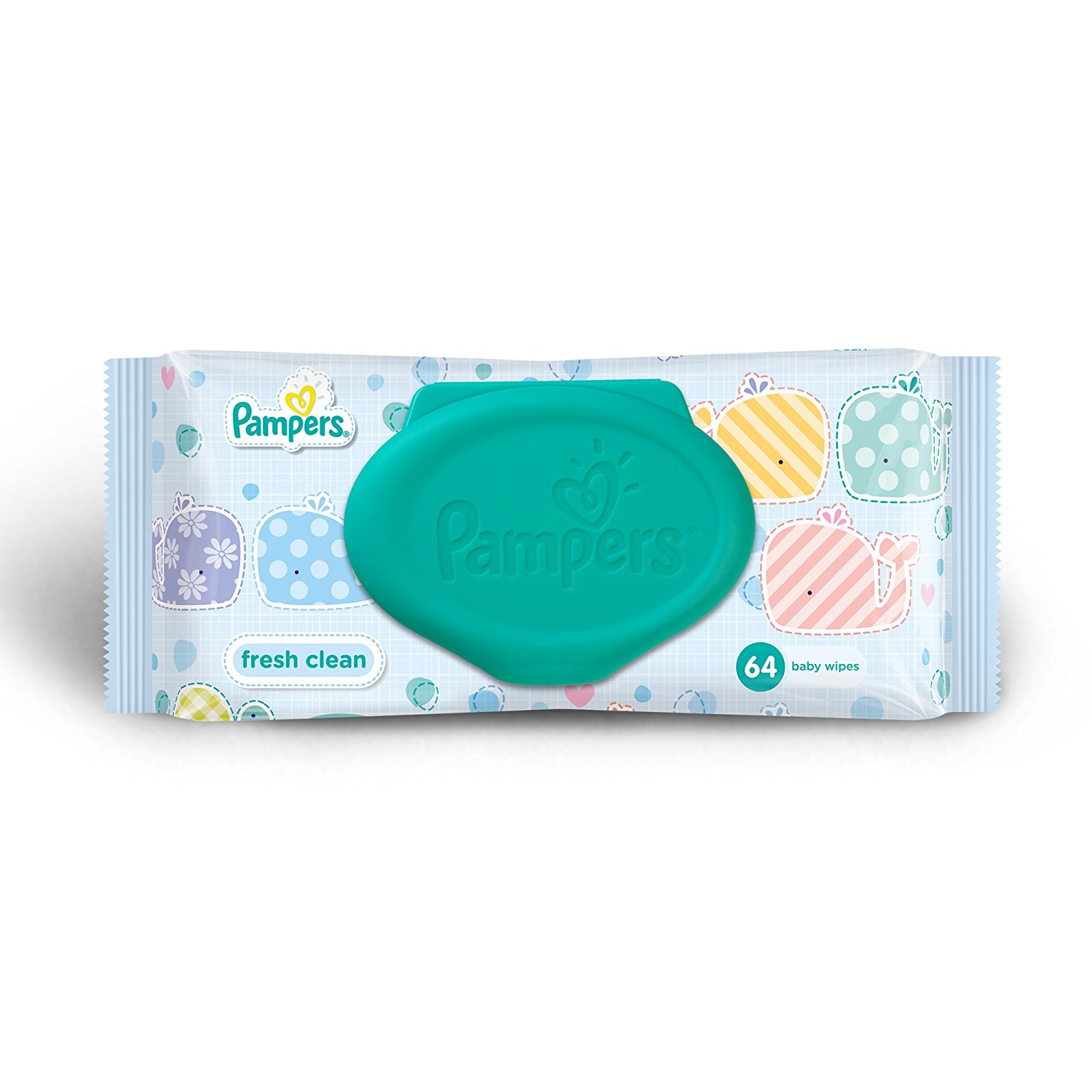 Pampers Wipes Fresh Clean Diapers(64 Count)