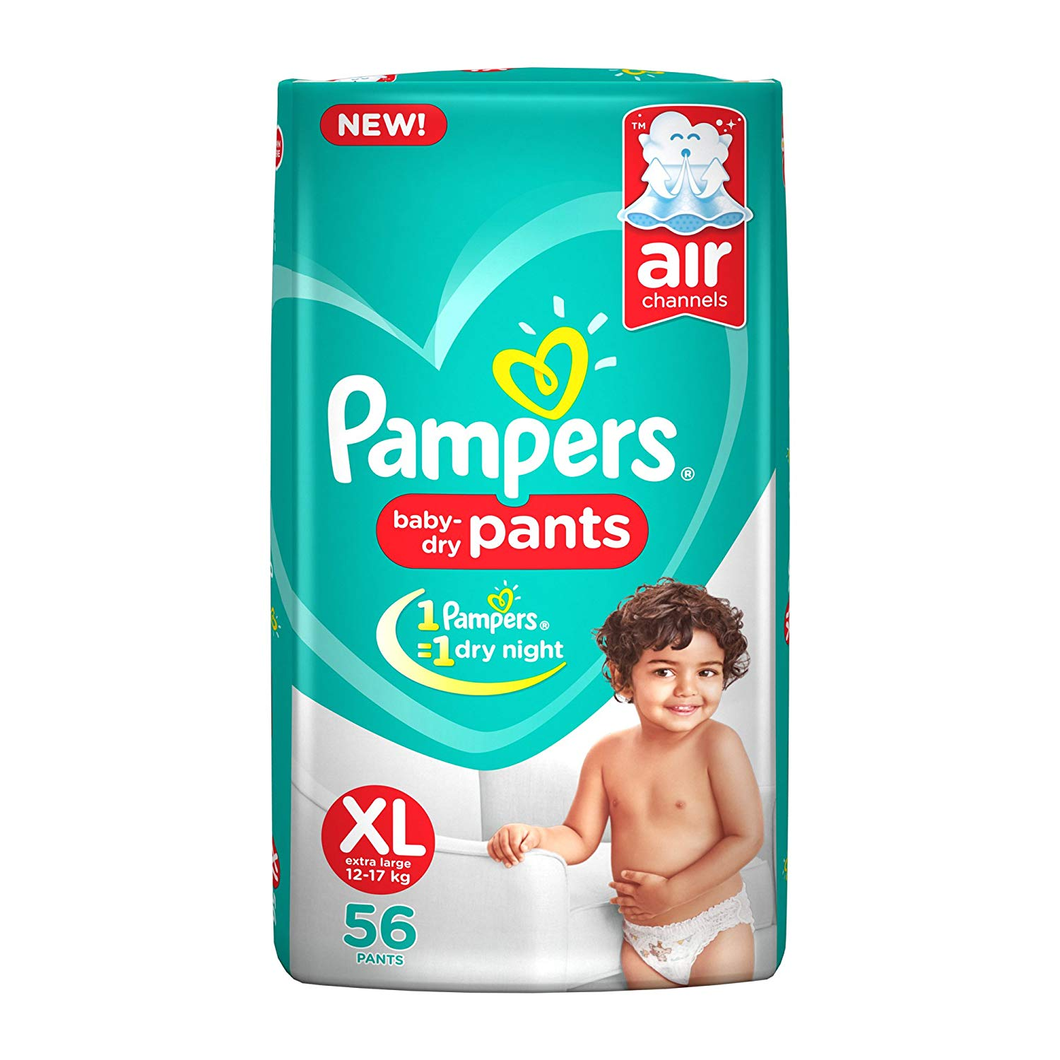 Pampers Pants Extra Large Size Diapers(56 Count)
