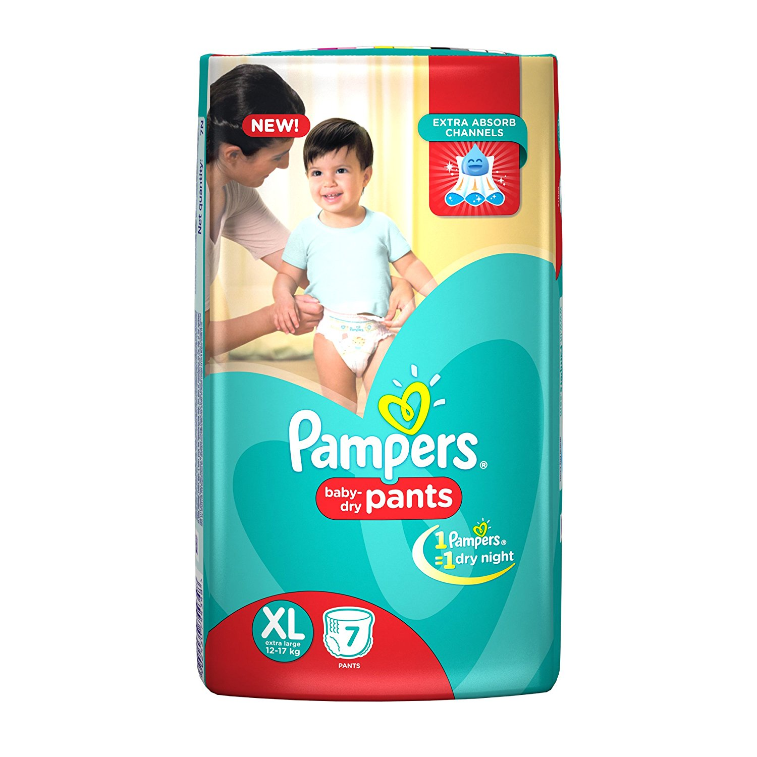 Pampers Pants Extra Large Size Diapers(7 Count)