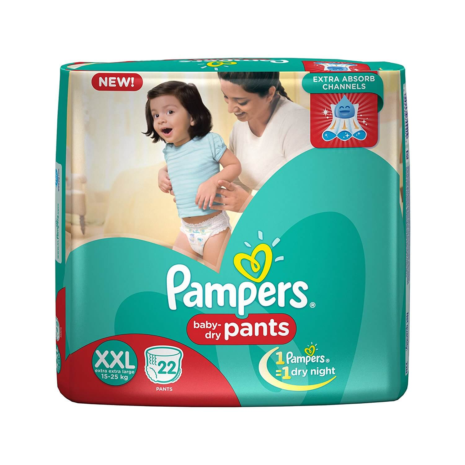 Pampers Pants Double Extra Large Size Diapers(22 Count)