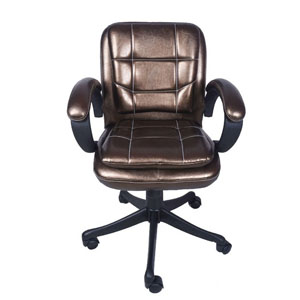 VJ Interior Chiquita Low Back Chair Copper 19 x 20 x 21 Inch VJ-0147